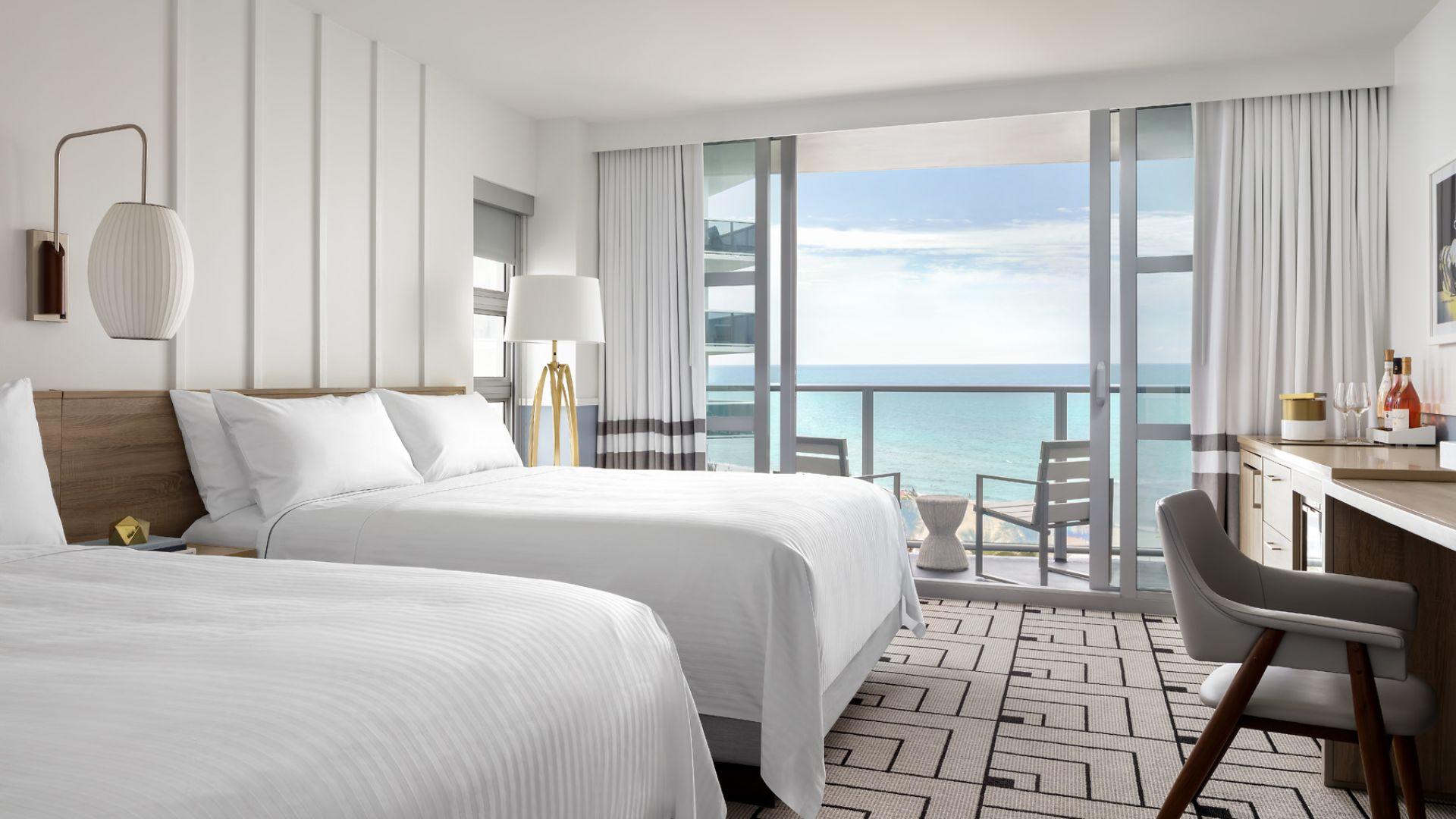 Oceanfront Hotel In Miami Beach 2 Bedroom Suites Cadillac Hotel